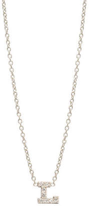 Chicco Zoe Pave Diamond Initial Pendant Necklace