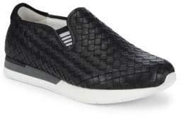 Bottega Veneta Basketweave Leather Slip-On Sneakers
