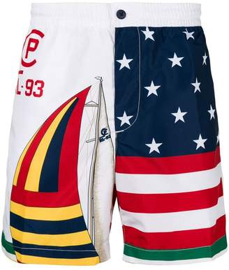 Polo Ralph Lauren US Sailing flag print swim shorts