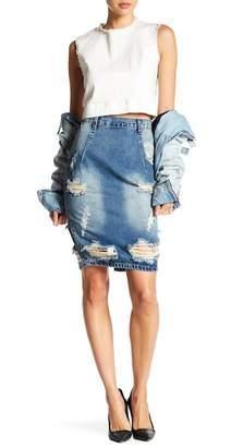 One Teaspoon Vintage Blue Freelove Skirt $136 thestylecure.com