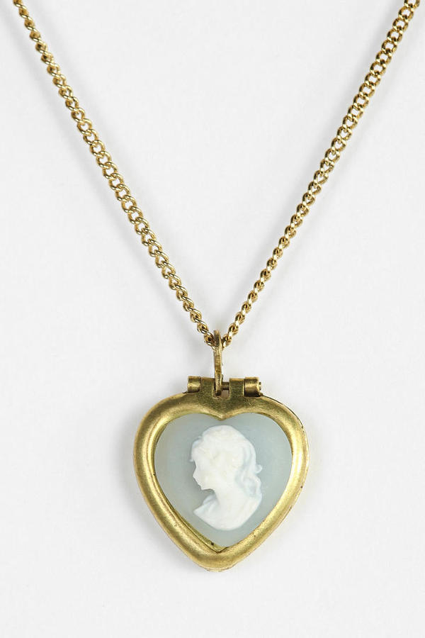 Urban Outfitters Cameo Heart Necklace