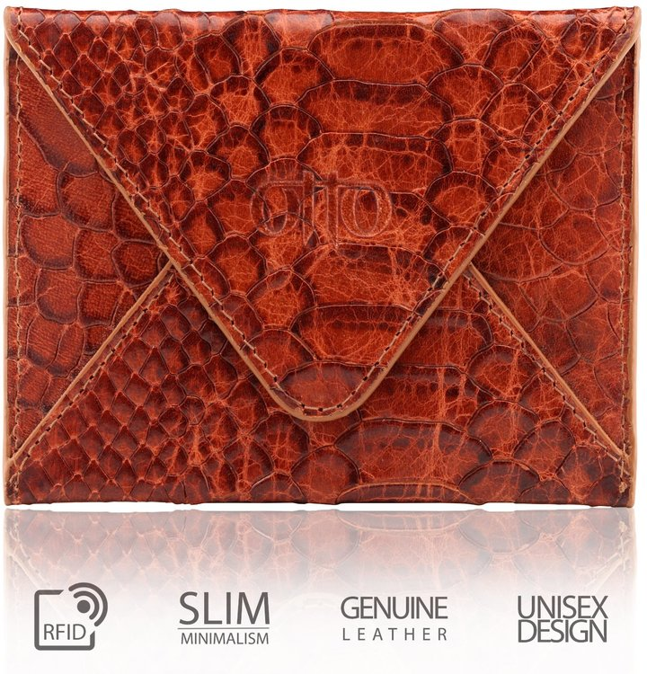 OTTO Leather Otto Genuine Leather Wallet - Multiple Slots  Money, ID, Tickets, Cards  Unisex