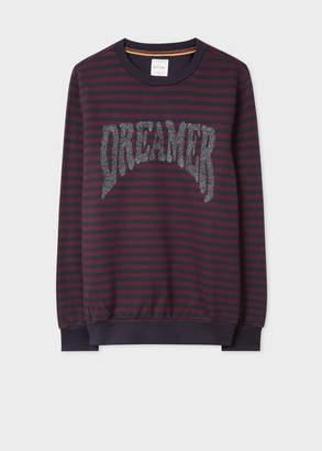 Paul Smith Men's Breton Stripe Sweatshirt With Glitter 'Dreamer' Embroidery