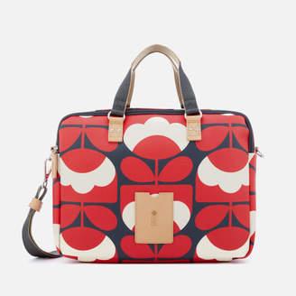 Orla Kiely Women's Spring Bloom Vinyl Work Bag - Ruby