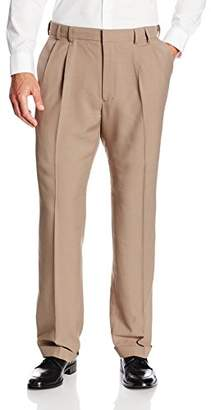 Van Heusen Men's Big and Tall Cuffed Crosshatch Pant