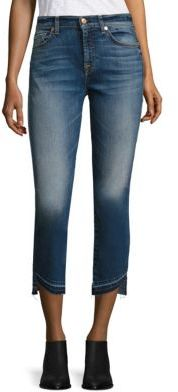 7 For All Mankind Rox Released Hem Ankle Jeans $209 thestylecure.com