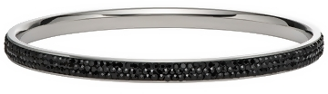 Black Crystal Stainless Steel Bangle