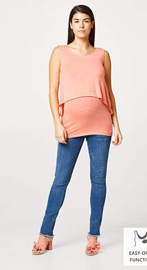 Esprit Melange layered top with a nursing function