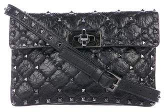 Valentino Rockstud Spike Flap Shoulder Bag