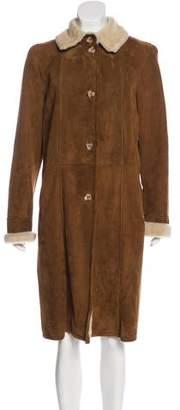 Oscar de la Renta Long Shearling Coat
