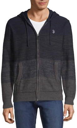 U.S. Polo Assn. USPA Mens Hooded Neck Long Sleeve Layered Sweaters