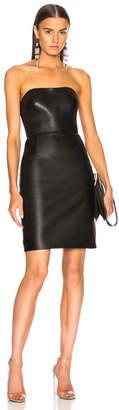 Alexander Wang Leather Bustier Dress