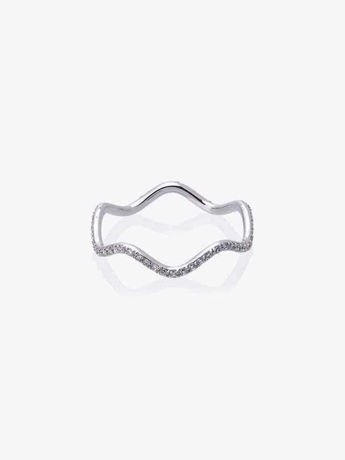 Sabine Getty wave diamond ring