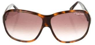 Tom Ford Oversize Tortoiseshell Sunglasses