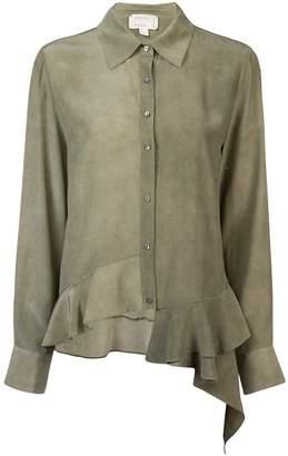 Nicole Miller asymmetrical button down shirt