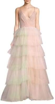 Valentino Tiered Organza Gown