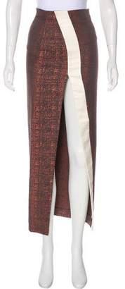 SOLACE London Patterned Midi Skirt