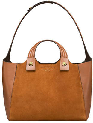 Tory Burch Rory Suede & Leather Tote Bag