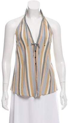 Louis Vuitton Striped Halter Top