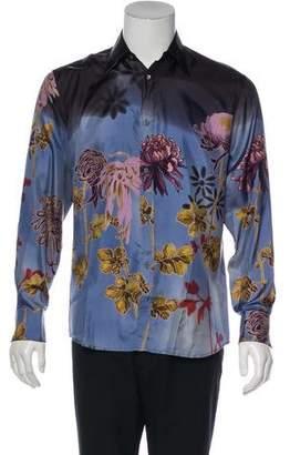 Gucci Vintage Silk French Cuff Shirt