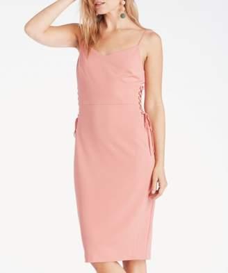 Sole Society Spaghetti Strap Slip Dress W/ Lace Up