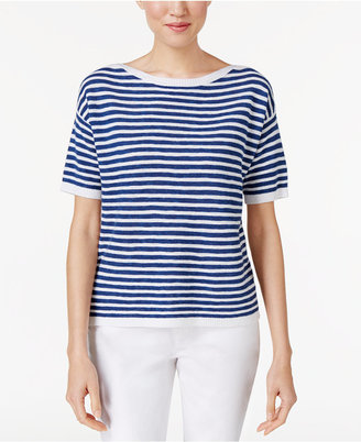Eileen Fisher Organic Linen-Cotton Striped Top $158 thestylecure.com
