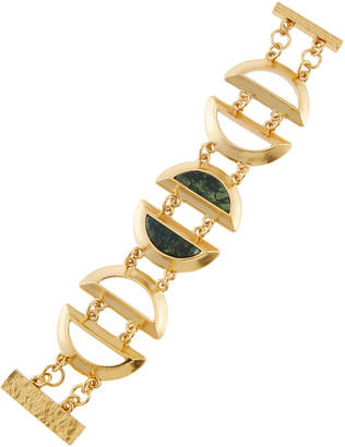 Stephanie Kantis Green Agate Minutia Bracelet