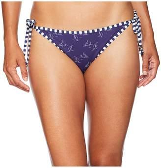 Vineyard Vines Golf Boat Print Reversible String Bikini Bottom Women's Swimwear