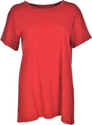 Brand Unique Silver-tone Detail T-shirt