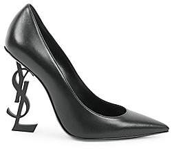Saint Laurent Women's Opyum Point Toe Leather Pumps