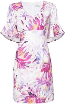 Trina Turk floral ruffle sleeve dress