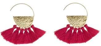 """Flaca Jewelry Tassel Hoop Earrings """"Sunrise"""""""