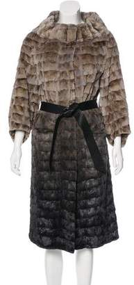 Carmen Marc Valvo Pieced Mink Coat