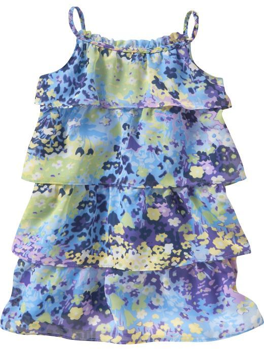 Flower tiered dress