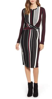Socialite Wrap Front Midi Dress
