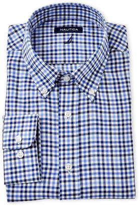 Nautica Blue Plaid Dress Shirt