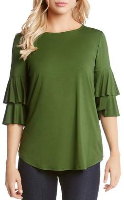 Karen Kane Tiered Ruffled Sleeve Top