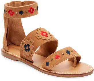 Soludos Embroidery Strap Sandal
