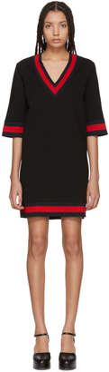 Gucci Black Jersey V-Neck Dress
