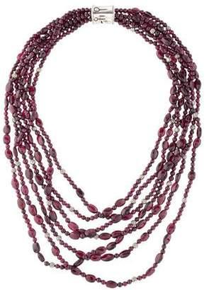 John Hardy Garnet Bamboo Bead Necklace