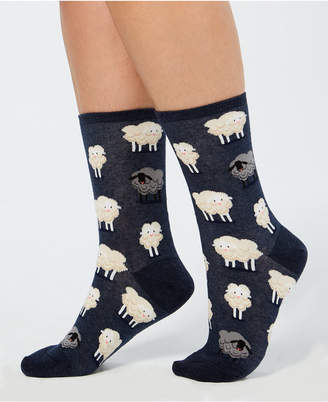 Hot Sox Women's Black Sheep Crew Socks