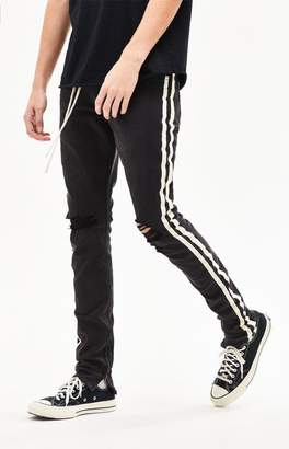 PacSun Stacked Skinny Side Stripe Zip Black Jeans 1e2820eefa9d
