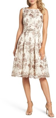 Women's Eliza J Floral Fit & Flare Dress $248 thestylecure.com