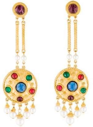 Ben-Amun Ben Amun Faux Pearl & Resin Drop Earrings