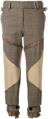 Sacai slim checked trousers