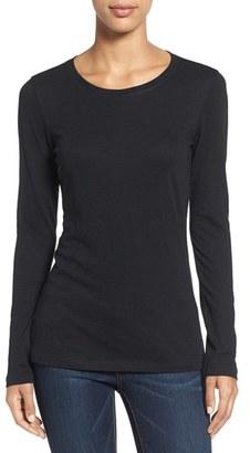 Women's Caslon Long Sleeve Slub Knit Tee $29 thestylecure.com