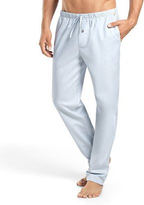 Hanro Alvaro Woven Lounge Pants, Light Blue $148 thestylecure.com