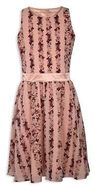 BCBGirls Girls' Georgette Floral Chiffon Dress - Little Kid