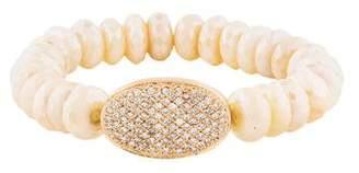 Sydney Evan 14K Diamond & Moonstone Bead Bracelet