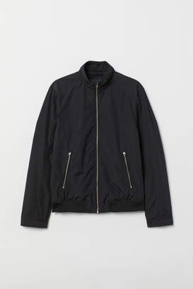 H&M Jacket with Stand-up Collar - Black